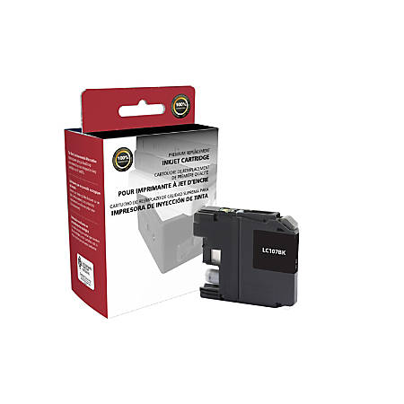 Clover Technologies Group™ 118073 (Brother® LC107BK) High-Yield Remanufactured Black Ink Cartridge