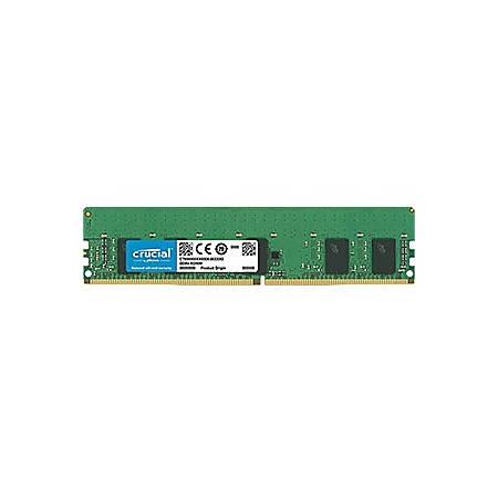 Crucial 8GB DDR4-2666 RDIMM - 8 GB - DDR4-2666/PC4-21300 DDR4 SDRAM - CL19 - 1.20 V - ECC - Registered - 288-pin - DIMM