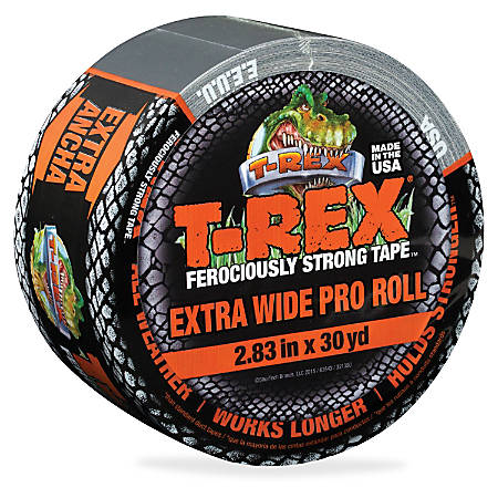 "T-REX Ferociously Strong Tape - 2.83"" Width x 90 ft Length - Polyethylene, Cloth - 1 Roll - Silver"