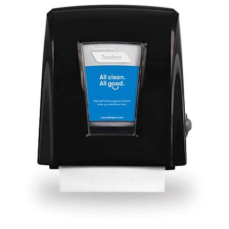 """Tandem®+ Nano™ Roll Towel Dispenser, 11 5/8""""H x 12 5/8""""W x 7 5/16""""D, Black"""