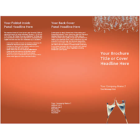 Customizable Trifold Brochure, Champagne Flutes