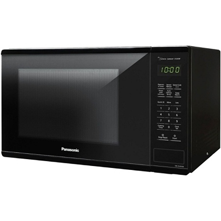 Panasonic 1 3 Cu Ft 1100w Countertop Microwave Oven Black Nn Su656b By Office Depot Officemax