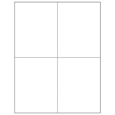 """Office Depot® Brand Removable Rectangular Laser Labels, LL269, 4 1/4"""" x 5 1/2"""", White, Case Of 400"""