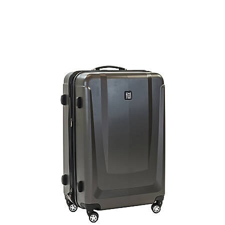 "ful Load Rider ABS Expandable Upright Rolling Suitcase, 25""H x 17 3/8""W x 10 13/16""D, Black"