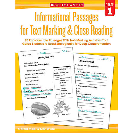 Scholastic Teacher Resources Informational Passages For Text Marking & Close Reading, Grade 1