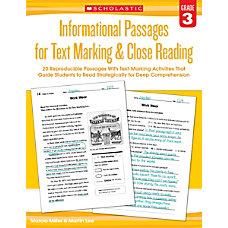 Scholastic Teacher Resources Informational Passages For