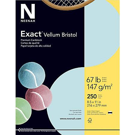 Exact Vellum Bristol Cover Stock 8 12 X 11 67 Lb Blue Pack Of 250