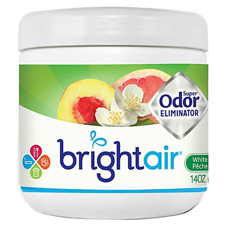 Bright Air Super Odor Eliminator Gel, 14 OZ., White