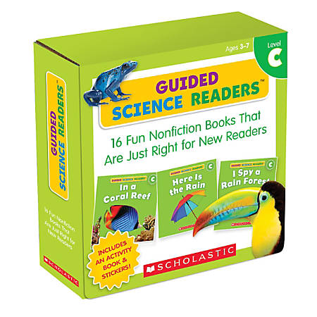 Scholastic Teacher Resources Guided Science Readers Parent Pack, Level C, Pre-K To 1st Grade, Pack Of 16