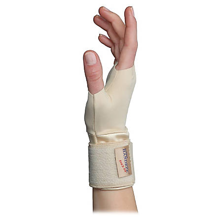 Dome Handeze Therapeutic Support Gloves, Medium, Beige