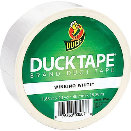 "Duck Brand Color Duct Tape, 1.88"" x 20 Yd., White"