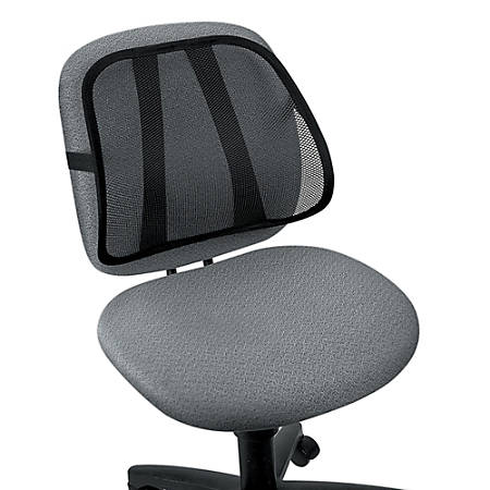 """Fellowes® Office Suites Mesh Back Support, 15""""H x 17 3/4""""W x 5""""D, Black"""