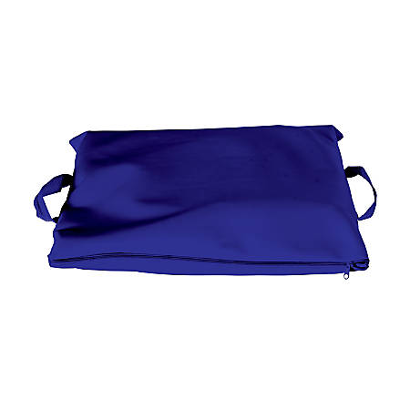 """DMI® Duro-Gel Flotation Cushion, With Polyester/Cotton Cover, 16"""" x 18"""", Navy"""