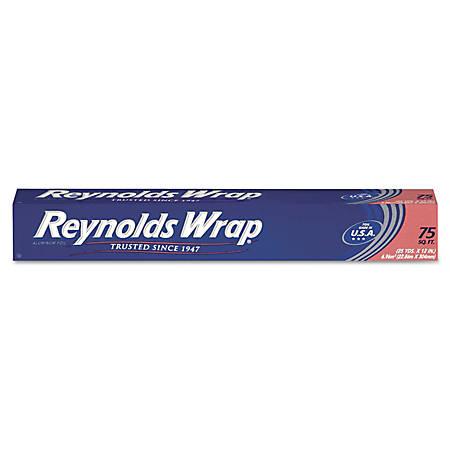 "Reynolds Wrap® Standard Aluminum Foil Roll, 12"" x 75', Silver"