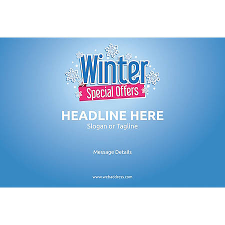 Adhesive Sign, Winter Special Offers, Horizontal