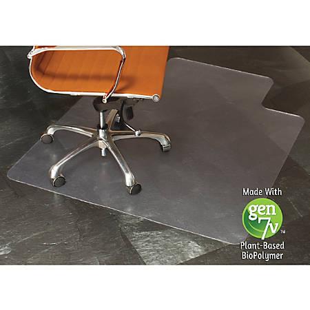 "E.S.ROBBINS Natural Origins Hard Floor Chairmat, Standard Lip, 53"" x 45"", Clear"