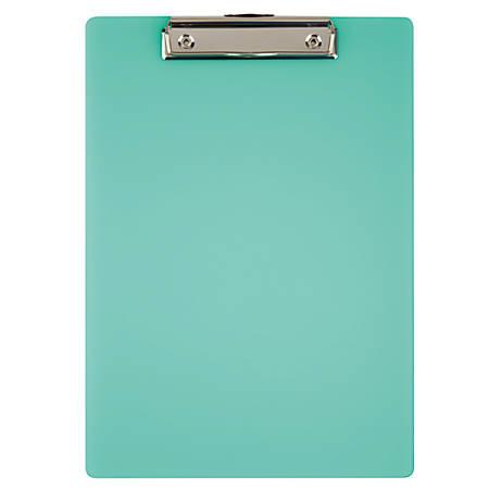"Office Depot® Brand Acrylic Clipboard, 12 11/16"" x 9"", Green"