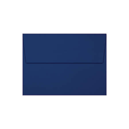 "LUX Invitation Envelopes With Peel & Press Closure, A7, 5 1/4"" x 7 1/4"", Navy/Silver, Pack Of 250"