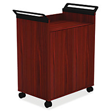 Lorell Mobile Storage Cabinet Mahogany