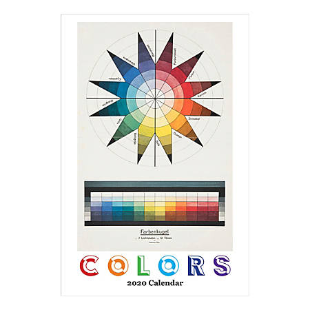 """Retrospect Colors Monthly Wall Calendar, 19"""" X 12-1/2"""", January To December 2020, YC046-20"""
