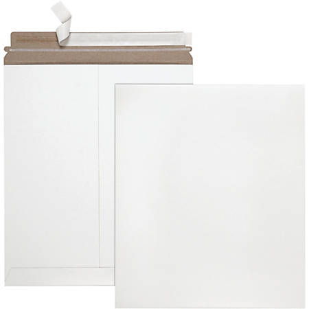 "Quality Park Sturdy Fiberboard Photo Mailers - Board - 6"" Width x 8"" Length - Self-sealing - Fiberboard - 25 / Box - White"