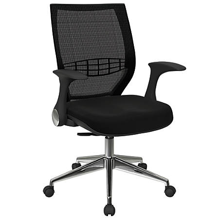 Office Star™ Pro-Line II ProGrid Fabric High-Back Chair, Jet/Black/Silver