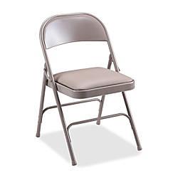 Lorell Vinyl Padded Seat Folding Chair