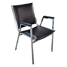Lorell Padded Stacking Chair Black Set