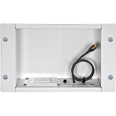 Peerless-AV Recessed Cable Managementand Power Storage Accessory Box - High Glossy Black