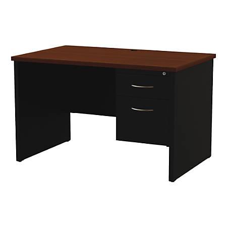 "WorkPro® Modular 48""W x 30""D Right Pedestal Desk, Black/Walnut"