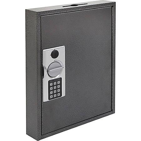 FireKing E-lock Steel Key Cabinets - Electronic, Key Lock - Scratch Resistant - for Key - White, Yellow, Silver, Black - Steel, Chrome Plated