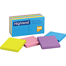 Highland Bright Self stick Removable Notes
