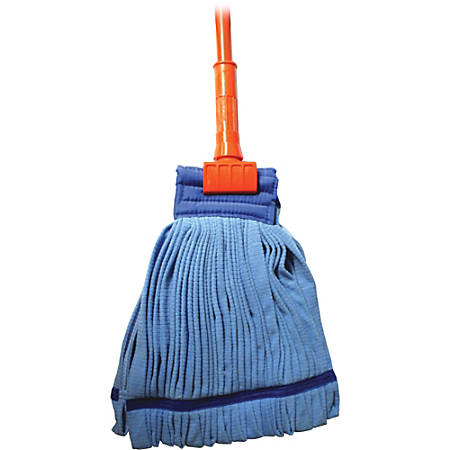 "Genuine Joe Complete Microfiber Tube Wet Mop, 60"" Handle"