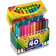 Crayola 40 Count Ultra Clean Washable