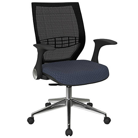 Office Star™ Pro-Line II ProGrid Fabric High-Back Chair, Cadet/Black/Silver