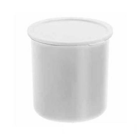 Cambro Crock With Lid, 2.7 Qt, White