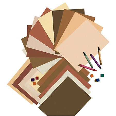"""Pacon® Multicultural Construction Paper, 9"""" x 12"""", Assorted Colors, Pack Of 50"""