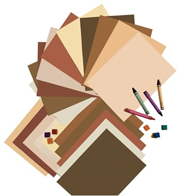 9 x 12 Inches Assorted Colors 50 Pacon Multi-Cultural Construction Paper