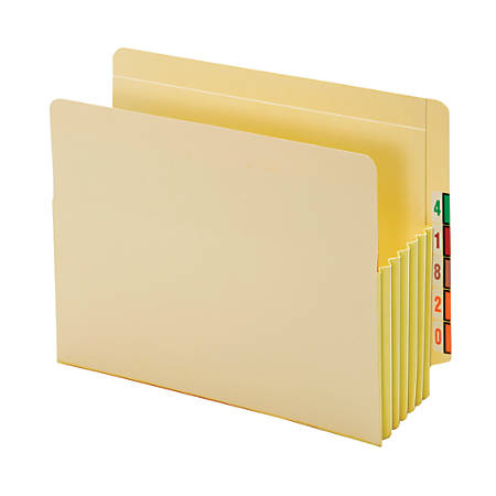 """Pendaflex® End-Tab File Pockets With Tyvek® Gusset, 5 1/4"""" Expansion, Letter Size, Manila, Pack Of 10 Pockets"""