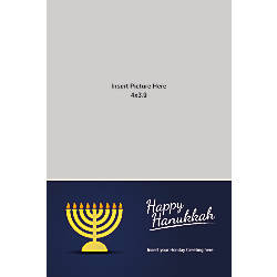 Photo Greeting Card Happy Hanukkah Vertical