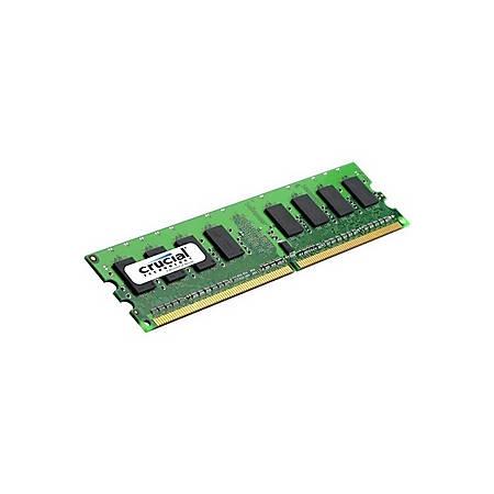 Crucial 2GB DDR2 SDRAM Memory Module - 2GB (2 x 1GB) - 667MHz DDR2-667/PC2-5300 - Non-ECC - DDR2 SDRAM - 240-pin