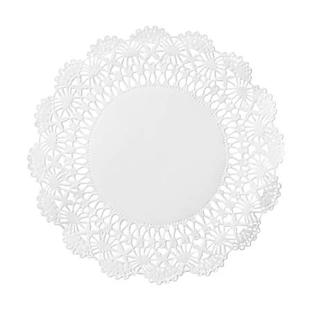 """Hoffmaster Cambridge Lace Doilies, 5"""", White, Case Of 1,000 Doilies"""