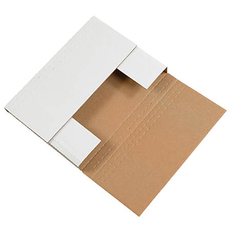 """Office Depot® Brand Easy Fold Mailers, 7 1/2"""" x 5 1/2"""" x 2"""", White, Pack Of 50"""