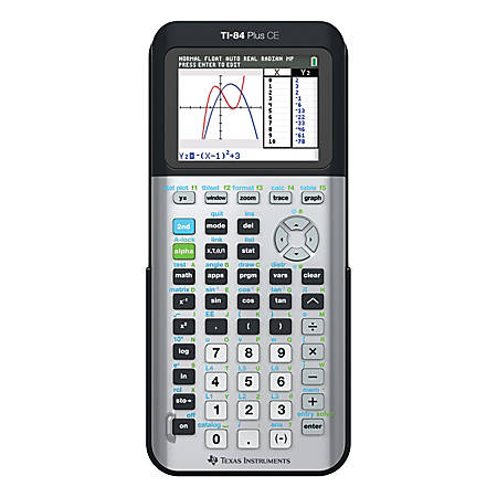 Texas Instruments® TI-84 Plus CE Color Graphing Calculator, Space Gray
