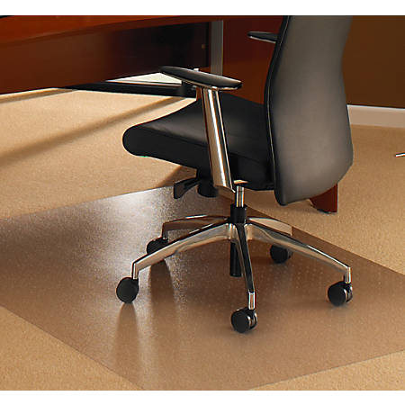 "Floortex Cleartex XXL General Office Mat, Rectangular, 48"" x 118"", Clear"