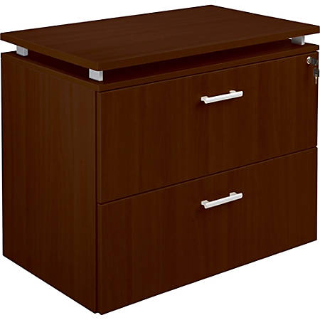 "Lorell® Concordia Series 36""W 2-Drawer Lateral File Cabinet, Mahogany"