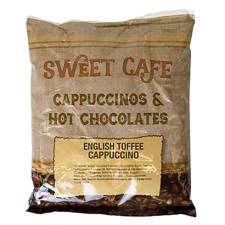 Sweet Café Cappuccino, English Toffee, 32 Oz, 2 Lb Per Bag, Case Of 6 Bags