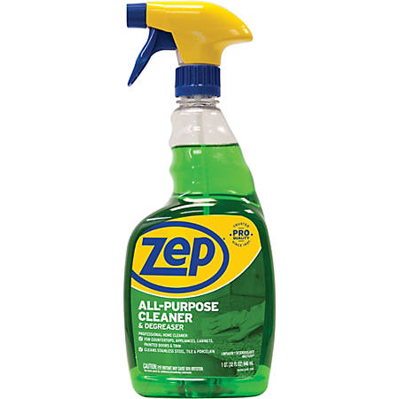 Zep Commercial All-purpose Cleaner/Degreaser - Ready-To-Use Spray - 0.25 gal (32 fl oz) - Bottle - 1 Each - Green