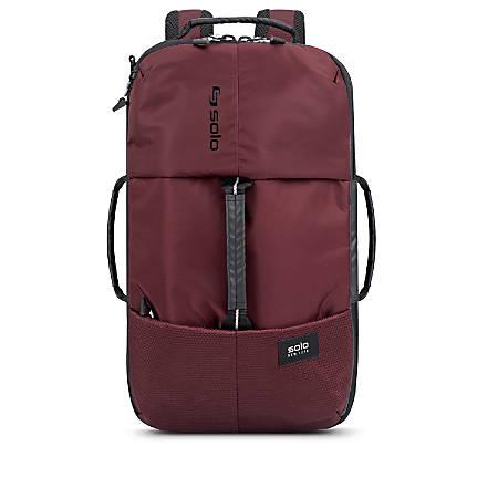 Solo All-Star Hybrid Laptop Backpack, Burgundy