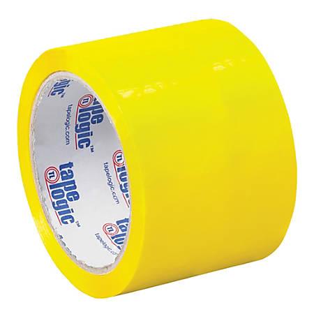 """Tape Logic® Carton-Sealing Tape, 3"""" Core, 3"""" x 55 Yd., Yellow, Pack Of 6"""